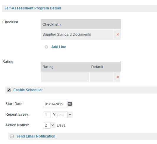 add the doclist to your supplier audit