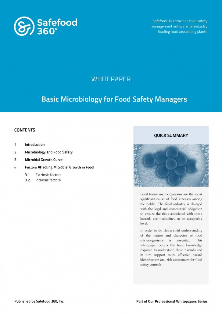 Safefood 360 Food Safety Auditing – Principles and Practice
