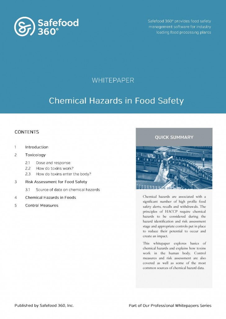 Safefood 360 Chemical Hazards in Food Safety