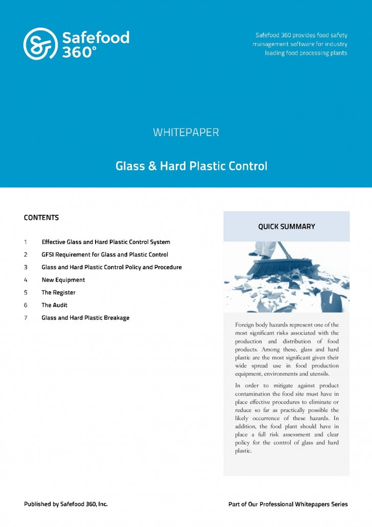 Safefood 360 Glass & Hard Plastic Control