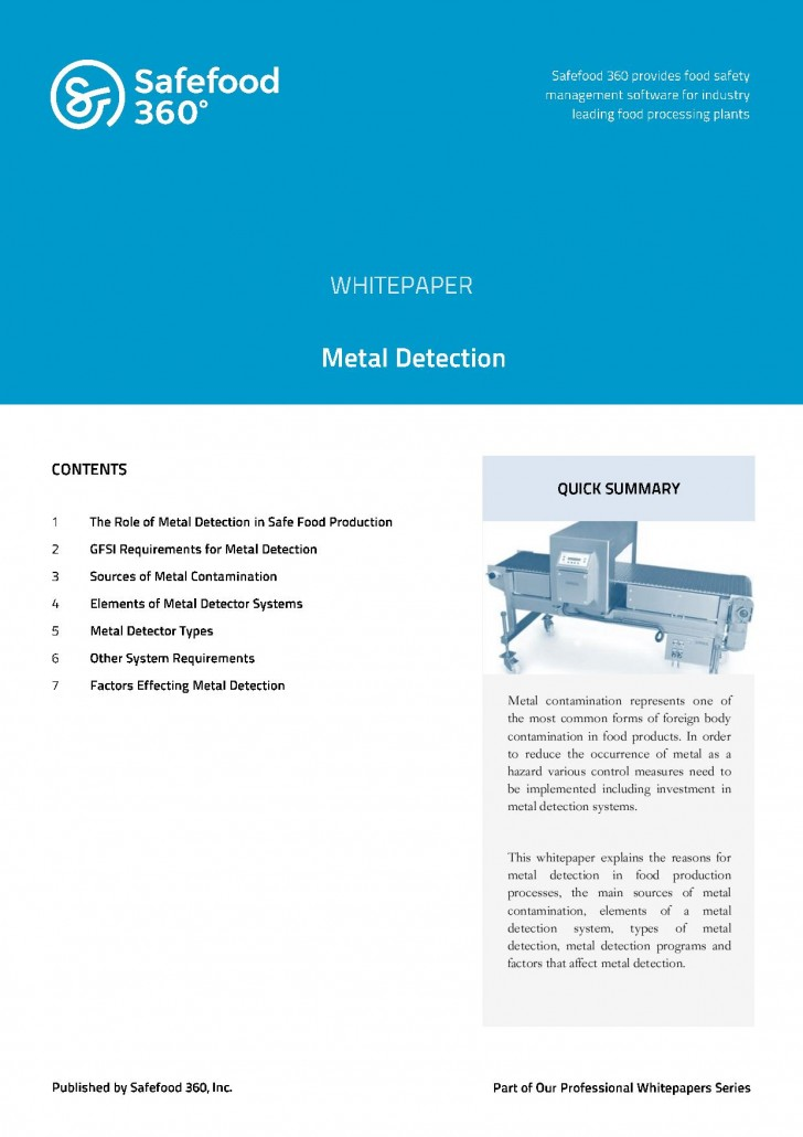 Safefood 360 Metal Detection