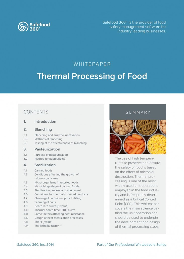Safefood 360 Thermal processing of food