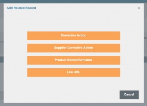 There are four different options for linking records together