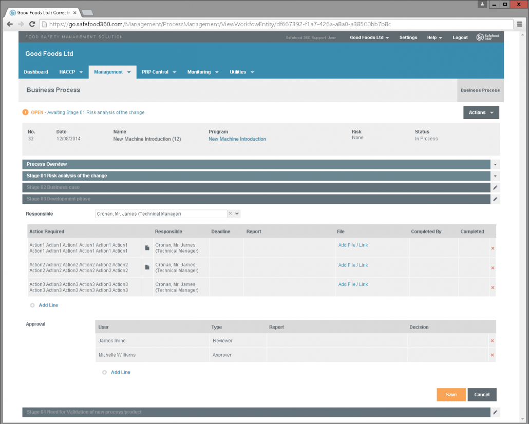 Managing your process is made simple and robust with the new module