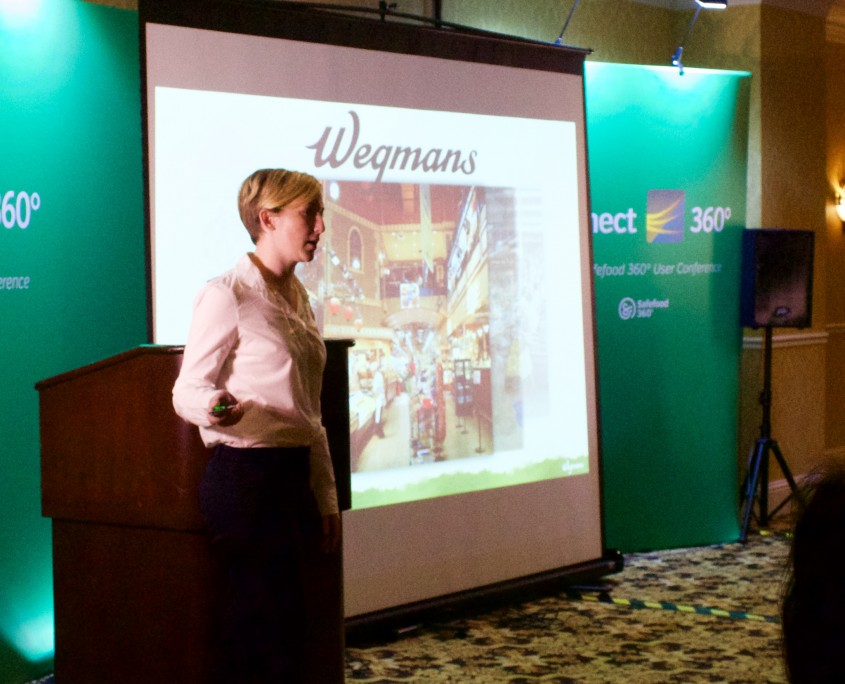 Courtney DeFord from Wegmans Culinary Solutions delivering a case study that captivated the audience